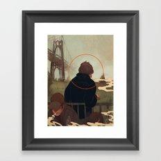 Centralized Talks Framed Art Print