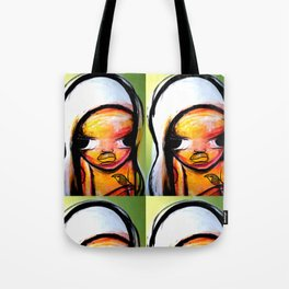 GIRL WITH BIRD Tote Bag