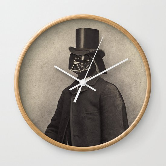 Lord Vadersworth  - square format Wall Clock