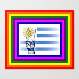 Uruguay World Peace Flag Canvas Print