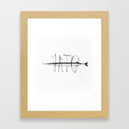 Tag on Fish III Framed Art Print