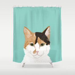 Calico Cat - Cute cat black, white, tan, orange tabby cat, cute kitten Shower Curtain