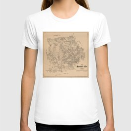 Map of Kendall County, Texas (1879) T-shirt