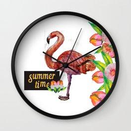 my flamingo Wall Clock