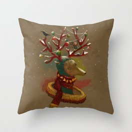January-New year Throw Pillow