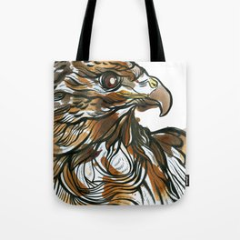 Red Tailed Tea Hawk Tote Bag