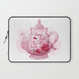 Time for tea and a good book Laptop Sleeve