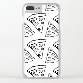 Ink Pizza Clear iPhone Case