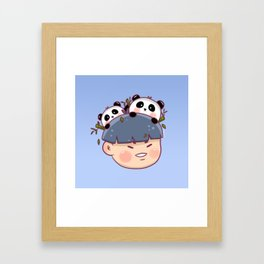 Panda Boy Framed Art Print