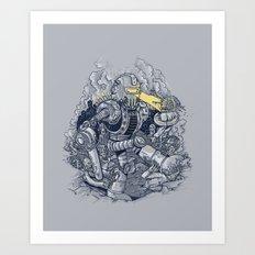 Zombie Exterminator Art Print