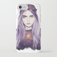 cara delevingne iPhone & iPod Cases featuring Cara Delevingne by Alana Mays Creative