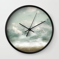 destiny Wall Clocks featuring Destiny by Sybille Sterk