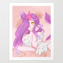Unicorn Pin up Art Print