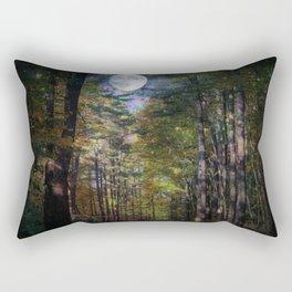 Magical Moonlit Forest Rectangular Pillow