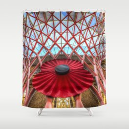 Kings Cross Station London Poppy Shower Curtain