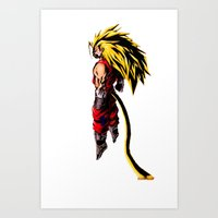 vegeta Art Prints featuring SS3 Vegeta by Prince Of Darkness