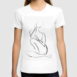 Female Figure Line Art T-shirt