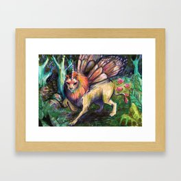 that's what happens when fairies raise kittens Framed Art Print