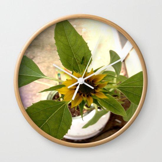 Flower Spider Wall Clock