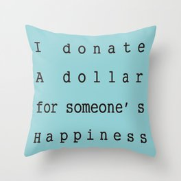 Charity Bags Throw Pillow