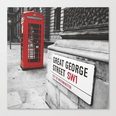 Great George Street (v.2 : square) Canvas Print