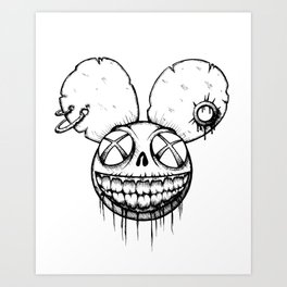 Undead mouse Art Print