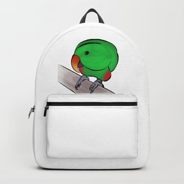 Curious Eclectus Parrot Backpack