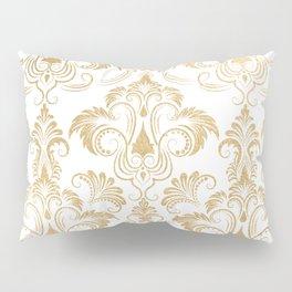Gold foil swirls damask 17 Pillow Sham
