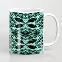 Abstract Geometric Light Factual Kelly Green Coffee Mug