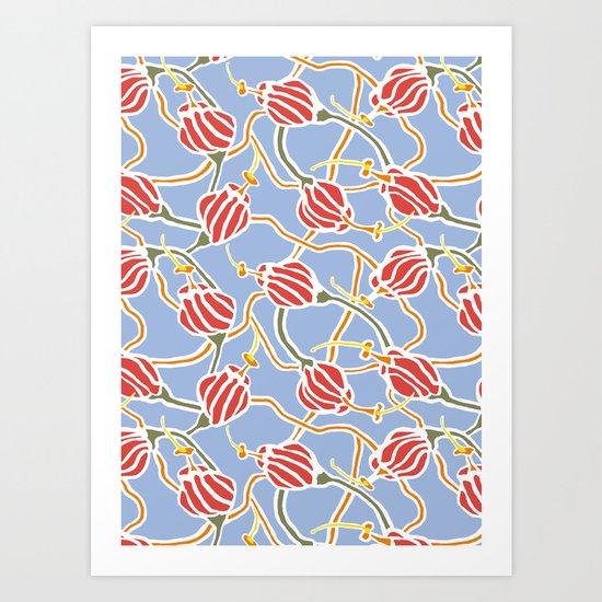 Carnivorous flowers 1 Art Print