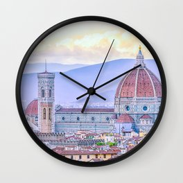 Cathedral of Santa Maria del Fiore  Florence Italy Wall Clock
