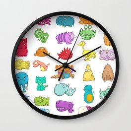 Furrry Monsters Wall Clock