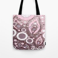champagne Tote Bags featuring :: Pink Champagne :: by :: GaleStorm Artworks ::