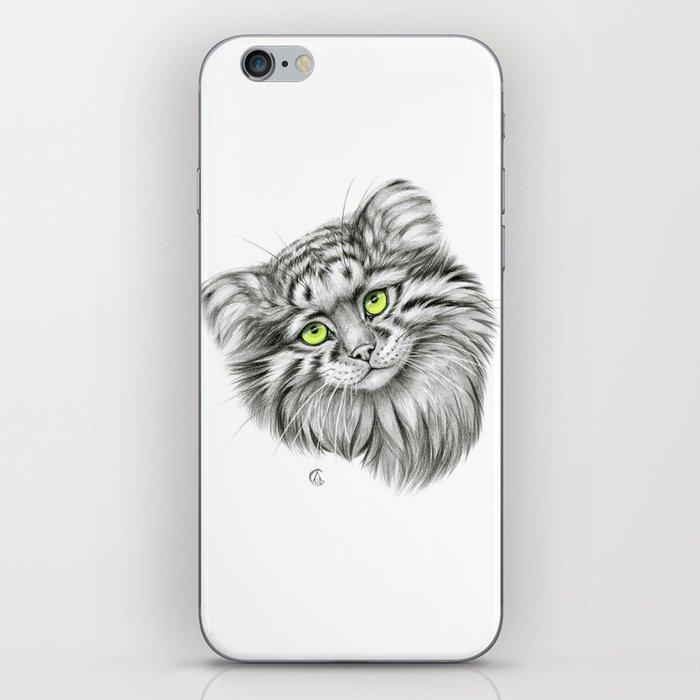 Pallas's Cat green G2012-51 iPhone Skin