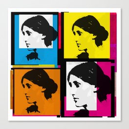 VIRGINIA WOOLF (FUNKY COLOURED COLLAGE) Canvas Print