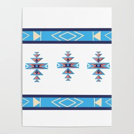 Native American Aztec pattern Poster