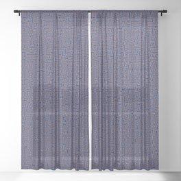 Hyper Maze TROPICAL SUNSET Sheer Curtain