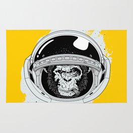 Monkey in white space Rug
