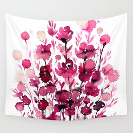 Floral Charm No.1D by Kathy Morton Stanion Wall Tapestry