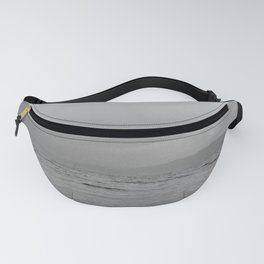 Black and white minimal lakescape Fanny Pack