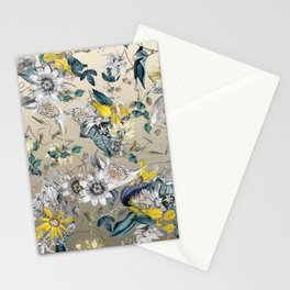 Exotic Fragrant Floral Garden in Gold Stationery Cards