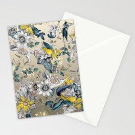 Exotic Elegant Fragrant Floral Garden in Gold Stationery Cards