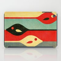 fish iPad Cases featuring Three Fish in My Mind by Fernando Vieira