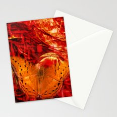 Butterfly in red universe Stationery Cards