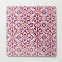 Red Lisbon Tile Geometric Print by jessiecooper