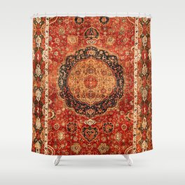 Seley 16th Century Antique Persian Carpet Print Shower Curtain
