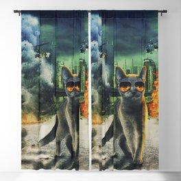 Adorable Dangerous Cat - The City Destroyer Blackout Curtain