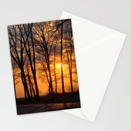 Sunset at Presque Isle State Park Stationery Cards
