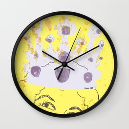 Always Wear Your Invisible Crown: Medieval Yellow Wall Clock