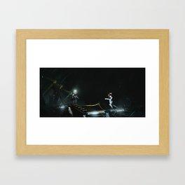 Deep water maintenance Framed Art Print